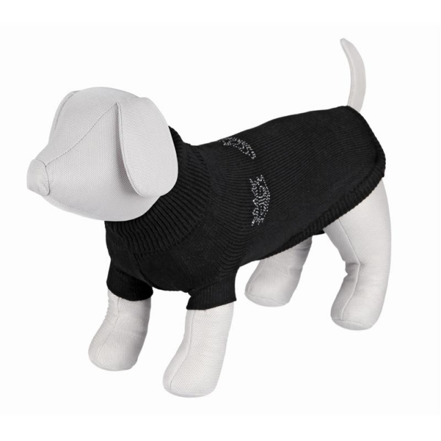 Trixie Pullover Kingston S: 35 cm, schwarz